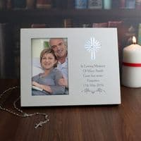 Personalised Cross Sentiments 6x4 Light Up Frame - P1011B99 - A beautiful gift to remember a loved one or to celebrate a religious occasion.